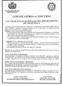 Convocatoria (ejemplo de Sucre)