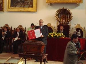 Declaratoria de Huesped Ilustre a EGD Omar Adi Representante del Presidente de RI