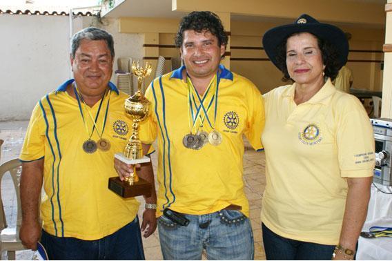 Billar - Medalla de Oro y Copa para RC Minero Saúl Flambury  y  José Carlos Michel