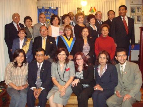 Rotary Club La Paz-San Pedro, conyuges, rotaractianos e invitados