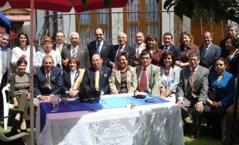 RC Miraflores con sus conyuges e invitados