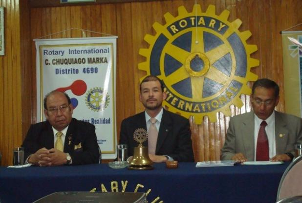 El gobernador con el Presidente Jose Morales y el secretario