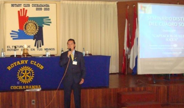 cr. Jaime Rosales Presidente Comité Distrital de Aumento y Retención de Socios