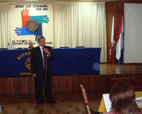 EGD Jorge Balcazar disertó sobre Creación de nuevos clubes
