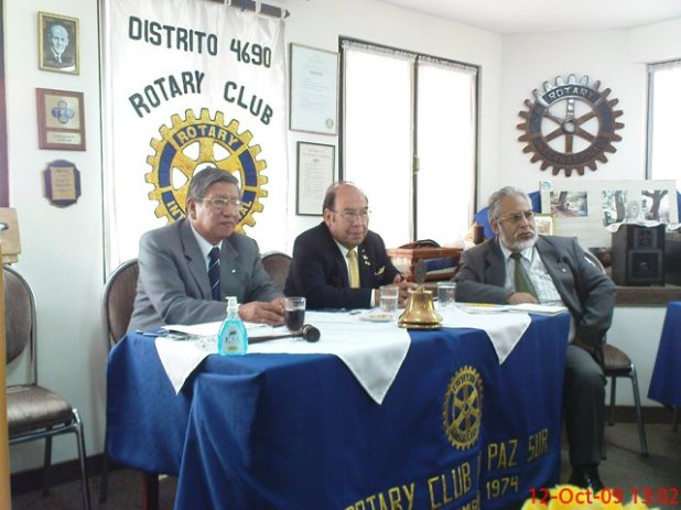 Gobernador con el Presidente Edgar Rios y el Secretario