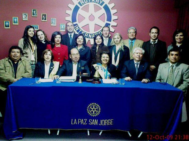 Rotary La Paz-San Jorge e invitados