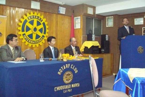 Bienvenida por el presidente cr. José Morales