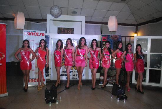GALA. Las candidatas que buscan conseguir el título de Miss y Señorita Chuquisaca 2013