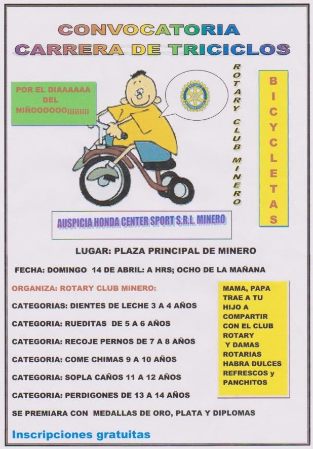 carrera triciclos Montero