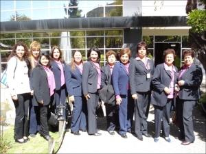 Delegación asistente al Panel de Damas