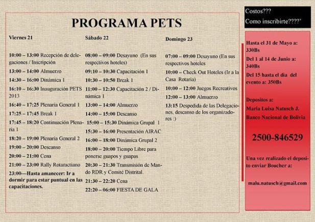 programa Pets Rotaract