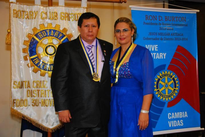 RC Grigota Pdte Alfredo LLanos y Naty Flores